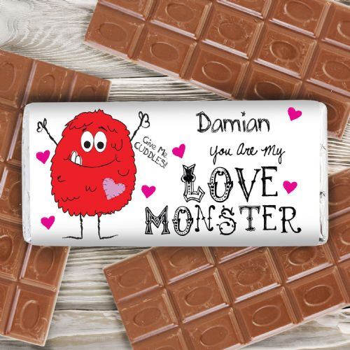 Personalised Love Monster Chocolate Bar
